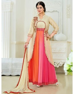 Ayesha Takia In  Multicolour Banglori Silk Anarkali Suit  - 176