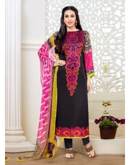 Beautiful Party Wear Embroidered Cotton Black & White Salwar Suit - 24CA83-115-arihant ( 24CA-24CA83 )