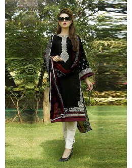 Beautiful Party Wear Printed Cotton Black Salwar Suit - 24CA83-116 ( 24CA-24CA83 )