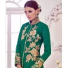 Beautiful Green & Cream Banglori & Bhagalpuri Silk Embroidered Salwar Suit - 24CA98-024 ( 24CA-24CA98 )