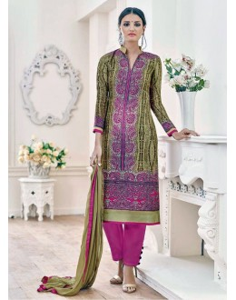 Beautiful Multicolor Banglori & Bhagalpuri Silk Embroidered Salwar Suit - 24CA98-025 ( 24CA-24CA98 )