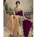 Bollywood Replica - Designer Purple & Beige Saree - 24CS12-9030-B