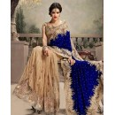 Bollywood Replica - Traditional Blue & Beige Saree - 24CS12-9030-F