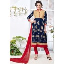 Office Wear Blue & Red Salwar Suit - 24CA136-05