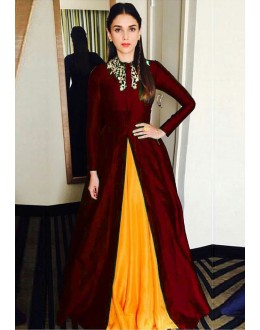 Bollywood Replica - Aditi Rao Hydari Fancy Maroon Lehnega Suit 24CA108-11020C