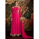 Party Wear Pink Poly Georgette Anarkali Suit - 24CA139-172