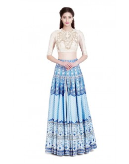 Bollywood Replica - Navratri Special Blue Lehenga Choli - 24CL09-11