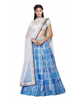 Bollywood Replica - Navratri Special Blue Lehenga Choli - 24CL09-16