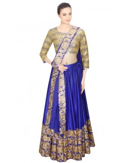 Bollywood Replica - Festival Wear Navy Blue Lehenga Choli - 24CL09-04