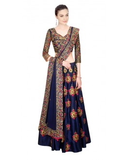 Bollywood Replica - Festival Wear Navy Blue Lehenga Choli - 24CL09-07