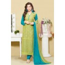Ethnic Wear Green & Blue Chiffon Salwar Suit  - 24CA151-2306