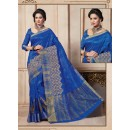 Traditional Wear Art Silk Blue Saree - 67953