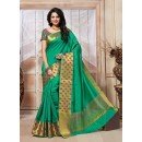 Traditional Wear Art Silk Green Saree - 67946