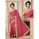 Traditional Wear Art Silk Pink Saree - 67956