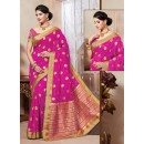 Traditional Wear Art Silk Pink Saree - 67960