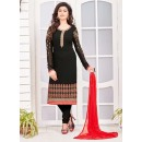 Casual Wear Georgette Black Salwar Kameez Dress Material  - 67980