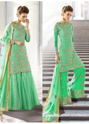 Party wear Green Georgette  Salwar suit -67898