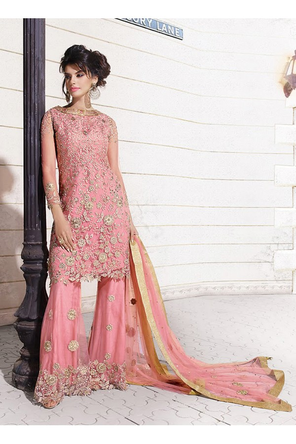 Party wear Pink georgette  Salwar suit -67894