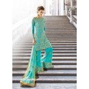 Party wear Turquoise Georgette  Salwar suit -67896