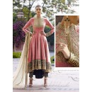 Jute Pink Anarkali Suit Dress Material - 67912
