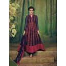 Eid Special Navy Blue Georgette, Net  Anarkali Suit - 69562