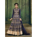 Eid Special Navy Blue Georgette, Net  Anarkali Suit - 69563