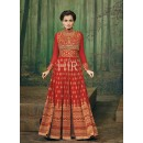 Eid Special Red Georgette Anarkali Suit - 69561