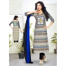 Party Wear Multicolour Cotton Salwar Suit - 70762