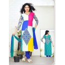 Casual Wear Multicolour Cotton Salwar Suit - 70763