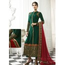 Party Wear Green & Maroon Salwar Suit - 71217