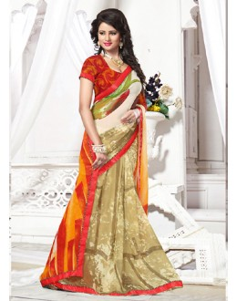 Casual Wear Multicolour Georgette Saree  - 71258