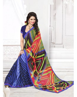 Casual Wear Multicolour Georgette Saree  - 71268
