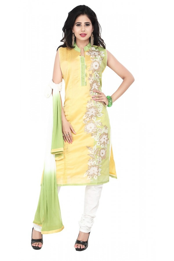 Party Wear Yellow Readymade Salwar Suit  -  71316