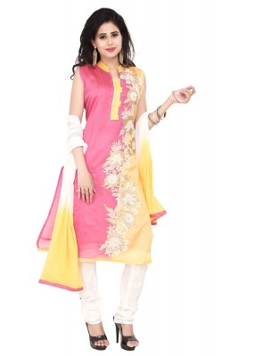 Party Wear Pink Readymade Salwar Suit  -  71317