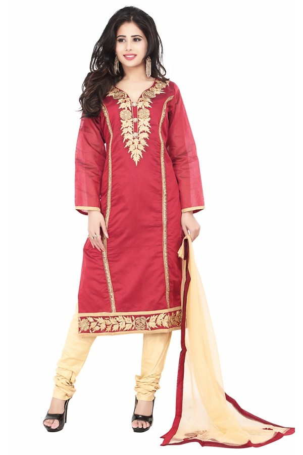 Party Wear Maroon Readymade Salwar Suit  -  71340