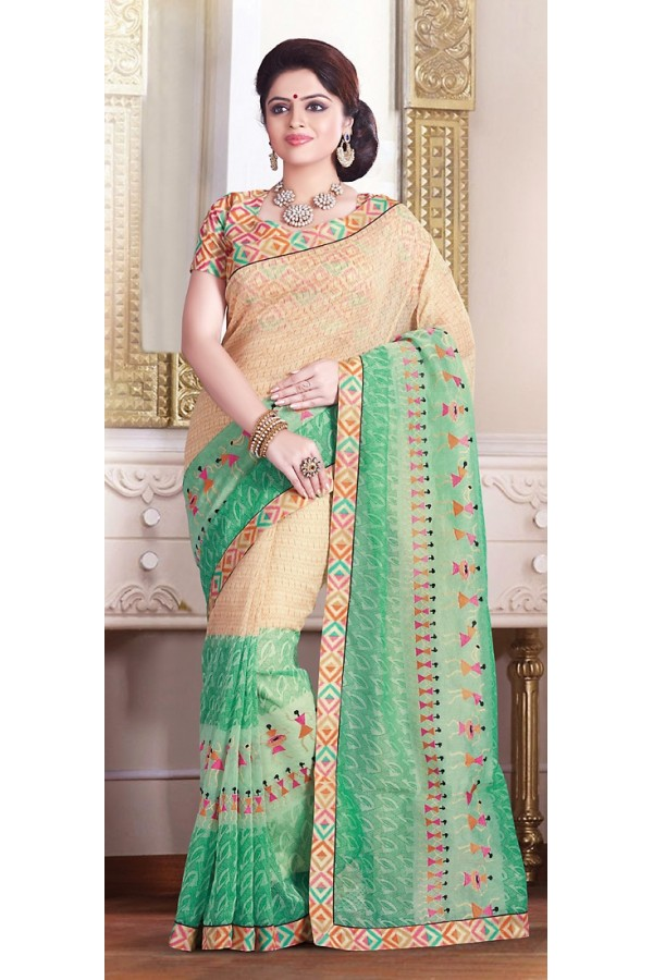 Party Wear Multicolour Super Net Saree  - 71374
