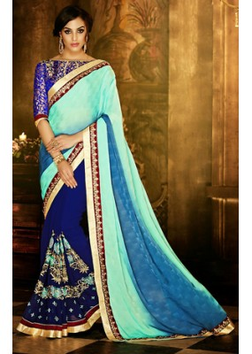 Traditional Multicolour Polyester Saree - 71378