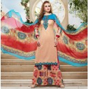 Party Wear Multicolour Cotton Palazzo Suit - 71475