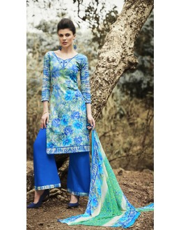 Party Wear Multicolour Cotton Palazzo Suit - 71503