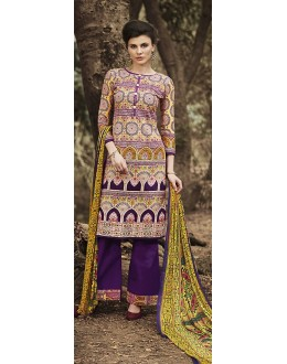 Party Wear Multicolour Cotton Palazzo Suit - 71510