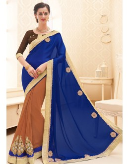 Traditional Multicolour Georgette Saree - 71705