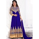 Party Wear Blue Georgette Anarkali Suit - 71940