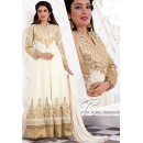Party Wear Off White Georgette Anarkali Suit - 71942
