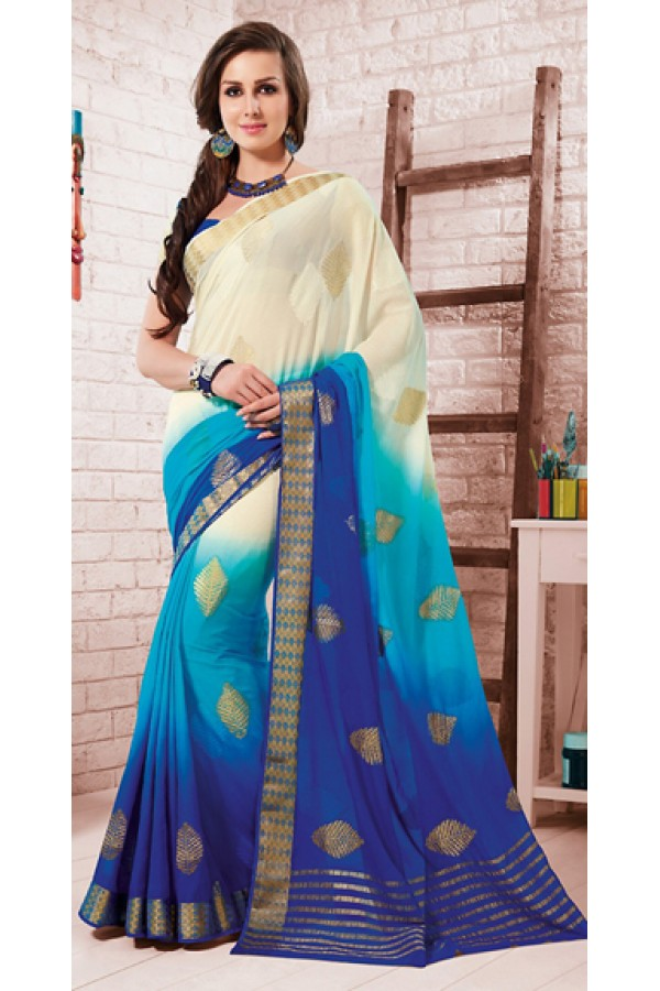 Casual Wear Multicolour Crepe Silk Saree - 72166