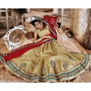 Designer Tan Brown & Maroon Lehenga Choli - 72240