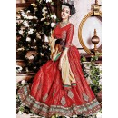 Wedding Wear Red & Tan Brown  Lehenga Choli - 72246