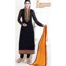 Party Wear Black Georgette Salwar Kameez - 72308
