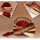 Wedding Wear Red Velvet Turban Groom - 72520
