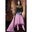Office Wear Multicolour Georgette Anarkali Suit - 72858