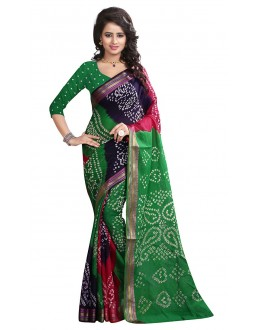 Ethnic Wear Multicolour Cotton Saree  - 72930